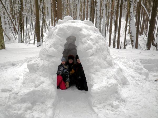 Как из снега сделать иглу 160
